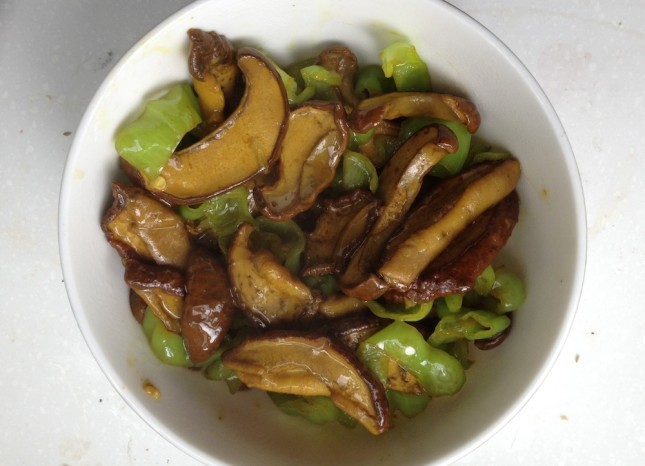 Stir-Fried Mushrooms with Green Chiles at China South of the Clouds