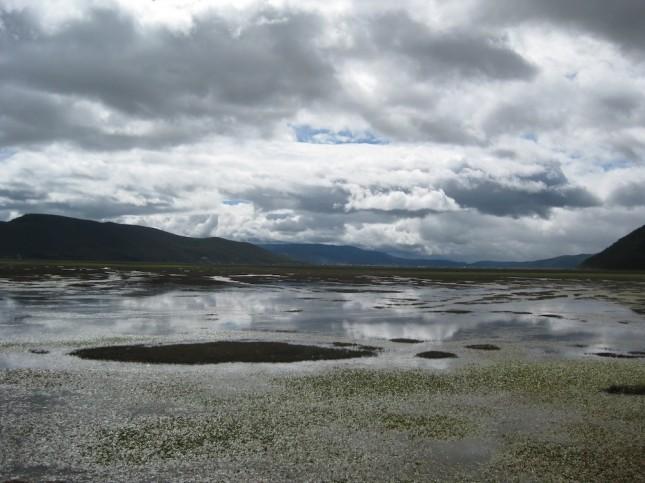 Lake outside Shangri-la
