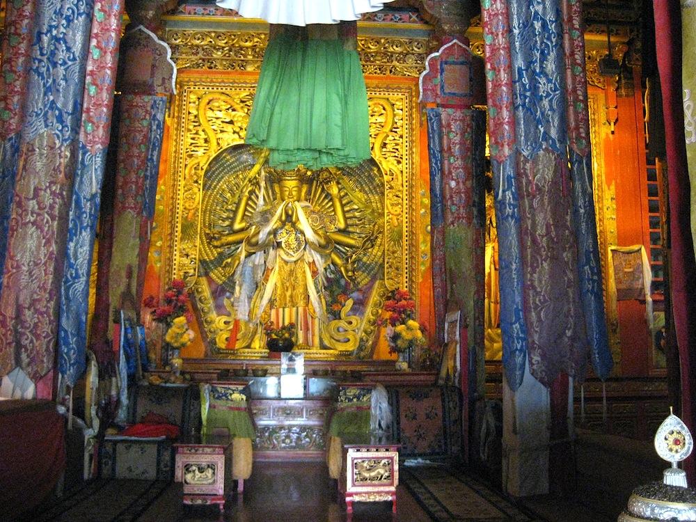 Inside Guishan Temple