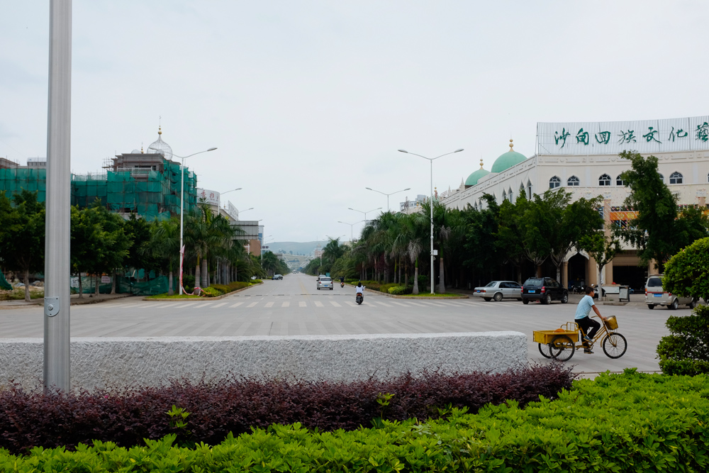 The streets in front of the Grand Mosque of Shadian